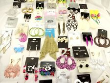 Lot Of 40 New Pairs of Earrings from Hot Topic Target Mandees Banana Republic ++