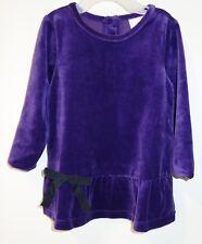 BNWT Hanna Andersson Purple Drop Waist Velour Dress Girl's 90 / 2-3.5 yr,