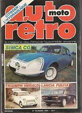 AUTO RETRO 55 SIMCA CG TRIUMPH HERALD & VITESSE LANCIA FULVIA SPORT ZAGATO BUGAT