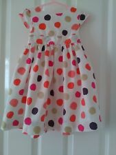 Lovely Lined Dress by Vertbaudet Age.2.Yrs..Circle Design..GC.