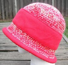 Distinct Red Mix Medium Size Crocheted Cloche - Handmade by Michaela