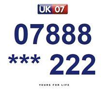 07888 *** 222  - Gold Easy Memorable Business Platinum VIP UK Mobile Numbers