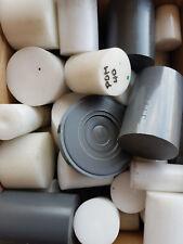 Kunststoffreste,4 Kg, POM, PVC, Drehen, Fräsen, Durchmesser 25 - 80 mm,