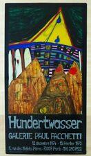 Affiche / Poster Hundertwasser (Galerie Paul Faccheti 1974-1975 ) Art moderne