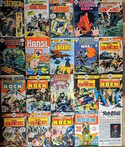 WAR COMIC LOT of mid grade Vintage books, Weird War Tales , SGT ROCK, LOSERS ☠️