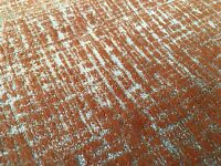 Clarke Clarke Metallic Distressed Antique Upholstery Fabric Patina Spice 1.8 yd