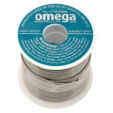 Warton Metals Omega 63/37 Low Residue 1% Flux Solder Wire 18SWG 1.22mm 500g