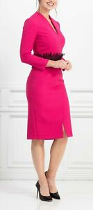Brand new without the tags designer dress in pink colour size 8