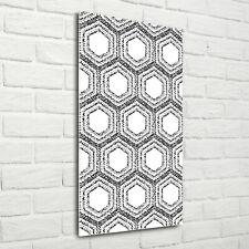 Wand-Bild Kunstdruck aus Hart-Glas Hochformat 50x125 Geometrisches Muster