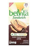 Belvita Breakfast Sandwich Biscuits, Dark Chocolate Creme, 25 Count, 44 Oz
