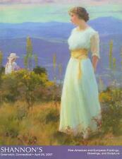 Shannons / American European Paintings Sculpture Post Auction Catalog Arpil 2007