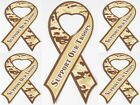 New Dealer Lot 5 Military Support Our Troops Desert Camouflage Ribbon Magnet SG