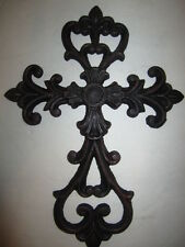 Cast Iron Cross Wall Hanging Decorative Metal Art