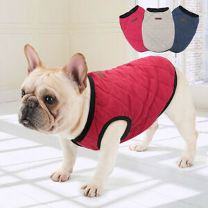 Winter Dog Coats Warm Jacket Pet Puppy Cat Clothes French Bulldog Jack Russell