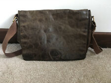 Rowallan Flap Over Brown distressed leather Messenger Cross Body Shoulder Manbag