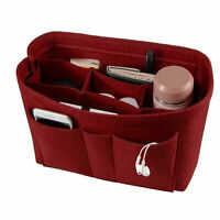 Multi Pocket Handbag Organizer Felt Purse Insert Bag fits Neverfull MM Speedy 30
