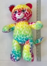 Build A Bear Wild Style Leopard Rainbow Cheetah Multicolor Spots Plush Cat Doll