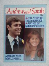 Royalty Magazine Prince Andrew & Sarah - Weekly News 1986 - Romance/Photographs.
