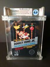 Donkey Kong Jr. (Nintendo) NES Complete Wata Graded 6.0 Black Box Hangtab HT