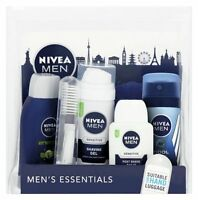 Men's Essential Nivea Male Travel Set Suitable for Hand Luggage Gift Pack.