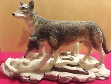 "Wolves Ceramic Figurine ""The Wolves"" Limited Edition #205 of 7500."