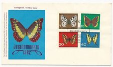 Germany Scott #B380-B383 on First Day Cover Butterflies May 25, 1962