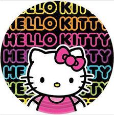 "HELLO KITTY tween PAPER PLATES birthday party supplies 8pc 9"" round lunch dinner"