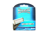 Wilkinson Sword Quattro - 8 Replacement Razor Blades