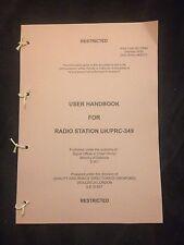 BRITISH ARMY CLANSMAN 349 RADIO USER HANDBOOK SAS PARAS FALKLANDS ULSTER