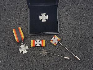 Set Bundeswehr Veteranenabzeichen im Etui Bandspange Miniatur Nadel SONDERPREIS