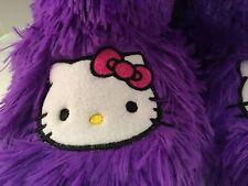 Hello Kitty Slipper Boots PURPLE SHAG Women's Small 5-6