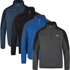 Regatta Mens Highton II Extol Stretch Half Zip Fleece Jacket Honeycomb Jumper