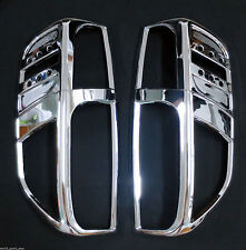 Cover Trim Chrome Tail Light Lamp Rear For Nissan Frontier Navara D40 Surround