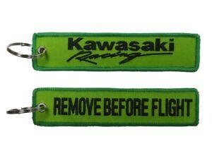 Kawasaki Racing Remove Before Flight Key Ring Key Tag Wash Bung Exhaust Bung Tag