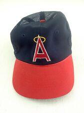 L A Angles A Logo Vintage Trucker Snap Back Navy Hat Red Bill Licensed Hat