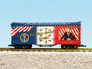 "USA TRAINS R16037 ""KEEPING AMERICA GREAT"" Donald Trump Reefer   NEW G-SCALE"
