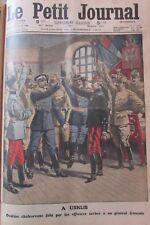 SERBIE USKUB OVATION OFFICIERS / JOIE ARMISTICE GRAVURE LE PETIT JOURNAL 1912