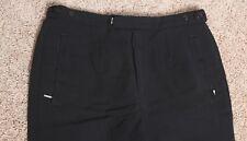 Vintage Skitique Mens Wool Blend Tapered Ski Pants size 32R Black Stirup