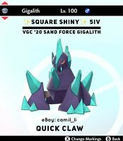 POKEMON SWORD & SHIELD ✨SHINY✨ 6IV SINGLES SAND STREAM GIGALITH (FAST DELIVERY)