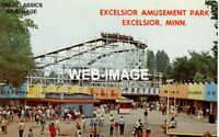 1960 EXCELSIOR AMUSEMENT PARK- LAKE MINNETONKA MN 5X7 PHOTO WOOD ROLLER COASTER