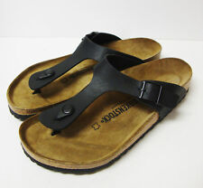 *NEW* BIRKENSTOCK GIZEH BLACK BIRKO-FLOR 39 M - 8-8.5 US WOMEN - WOMEN'S SANDALS