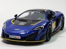 "Kinsmart 5"" McLaren 675LT Stripes Exclusive Edition Diecast Model Car 1:36- BLUE"