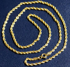 Goldkette 585 Gelbgold wunderschöne lange Gold Kette Kordel Kordelkette & Etui