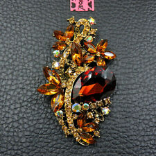 New Fascinating Crystal Rhinestone Flower Betsey Johnson Charm Party Brooch Pin