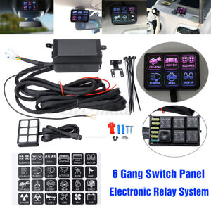 6 Gang Universal On/Off Switch Panel Electronic Relay Circuit Control System