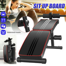 Adjustable Sit up Bench AB Flat Incline Decline Training Crunch Board Exercise