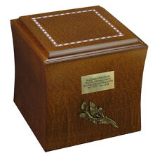 Classic Wooden Cremation Urn for Human / Pet Ashes -Display At Home burial Niche