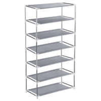 7 Tier Shoes Rack Tower Organizer Space Saving Storage Non-woven Fabric Shelf