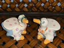 Vintage JAPANESE GEISHA Ugly Duckling SWAN DUCK Salt & Pepper Shakers ❤️ts17j