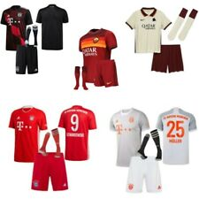 20-21 Football Club Full Kit Kids Boys Youth Soccer Jersey Strips Training Suits